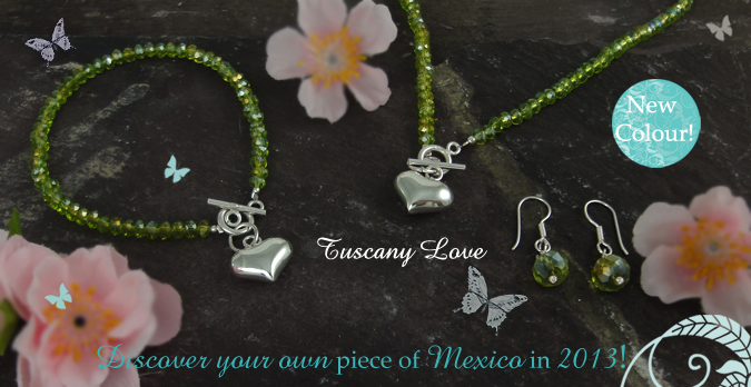 Tuscany Love Crystal Jewellery set