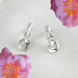 Whirl Silver Earrings