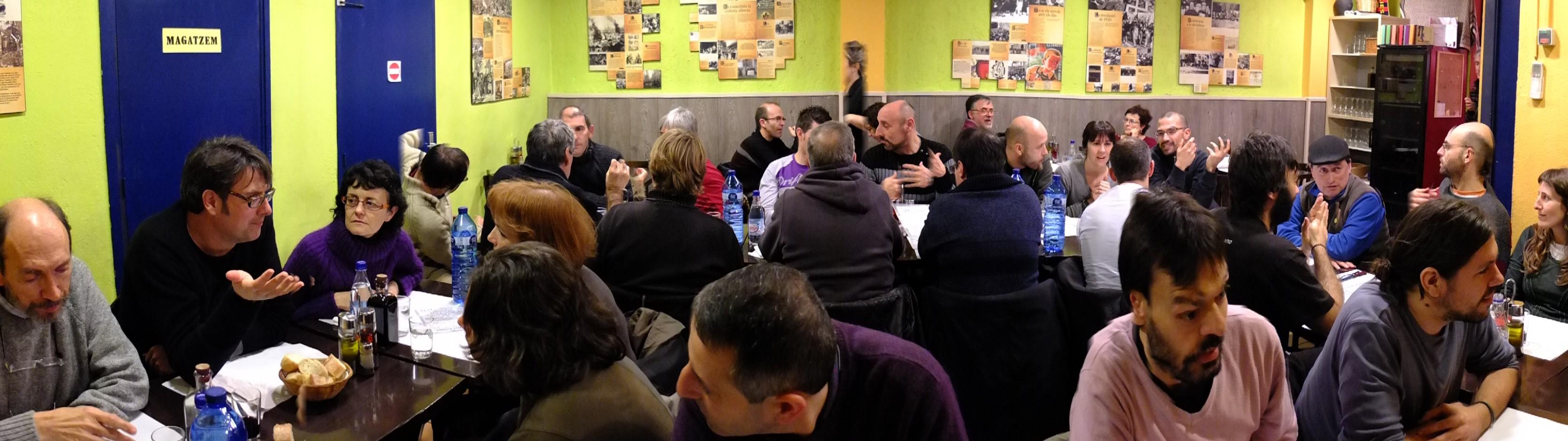Cena grupos locales febrero 2013