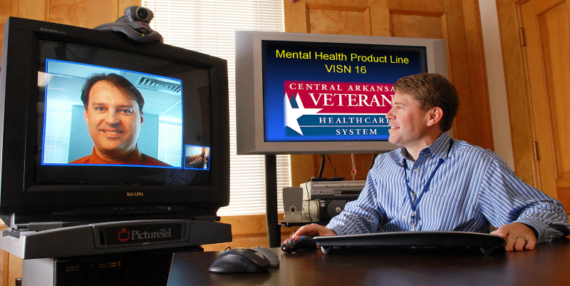 John Fortney, PhD demonstrates the interactive video used in the Telemedicine-Based Collaborative Care Study published in JAMA Online in November 2014.