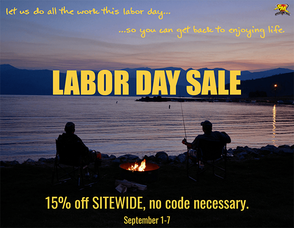 Labor Day Sale: Save 15% off sitewide.