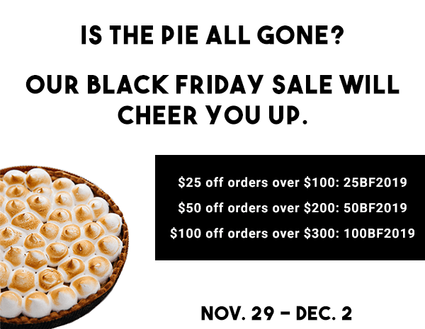 Black Friday Savings end on Monday! Don't miss your chance to save!