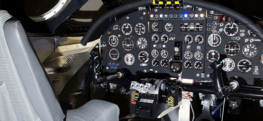 Instrument panel for aircraft simulator