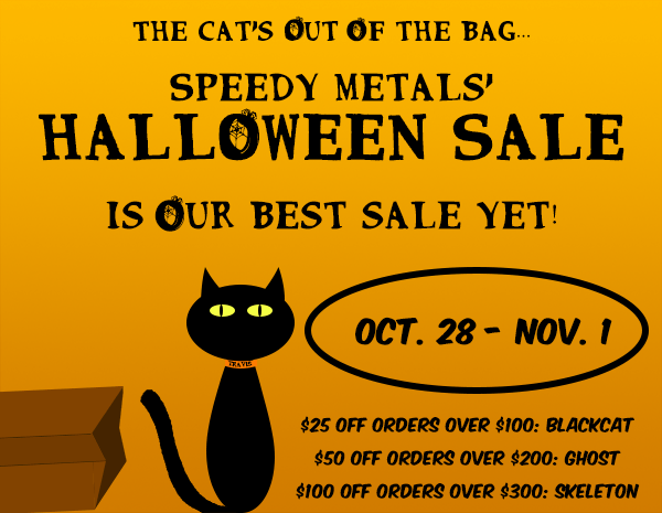 Halloween Sale ends today! Save $25 off orders over $100 with code BLACKCAT; Save $50 off orders over $200 with code GHOST; Save $100 off orders over $300 with code SKELETON