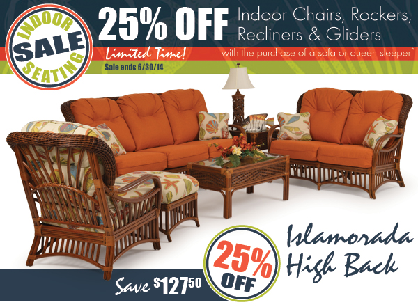 INDOOR SEATING SALE