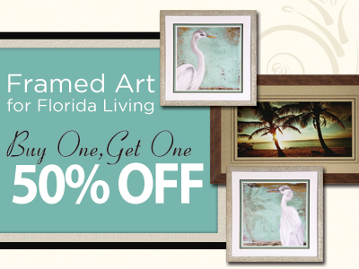 Buy One, Get One 50% Off Frame Art for Florida Living