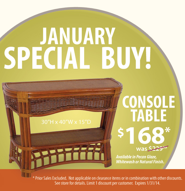 Console Table - January's Special Buy!