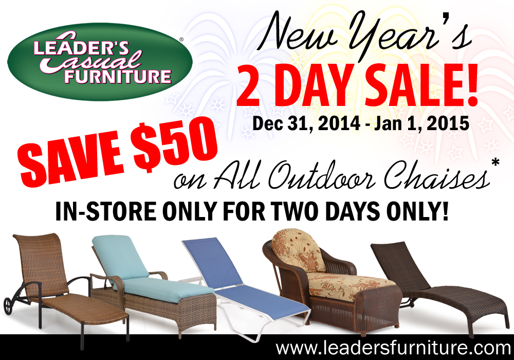 Leader's Casual Furniture 2 Day Chaise Lounge Sale