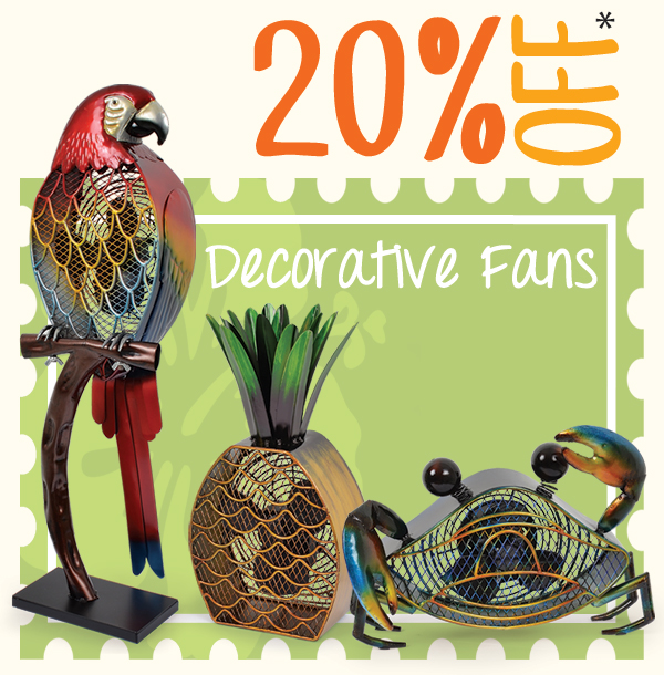 Save on Decorative Fans!