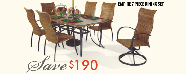 Empire 7pc Dining Set
