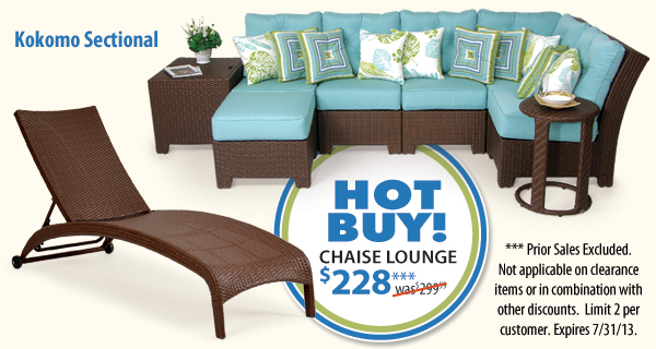 View Kokomo Sectional & Chaise Lounge