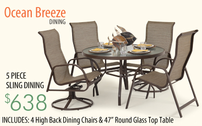 Ocean Breeze 5 Piece Dining Set