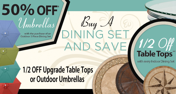 Buy A Dining Set and Save...