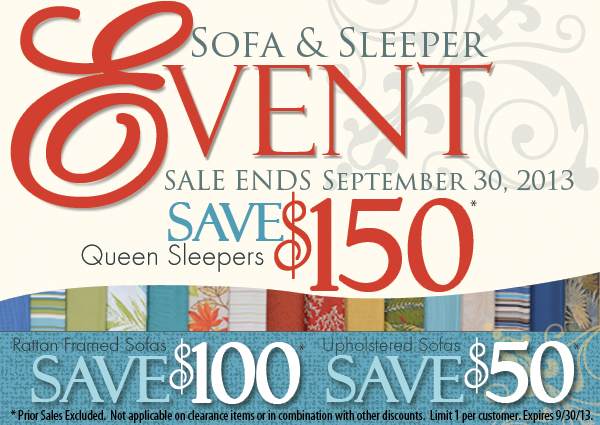 Sofa and Sleeper Sales Event