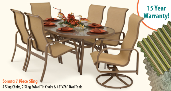 Sonata 7 Piece Sling Dining Set