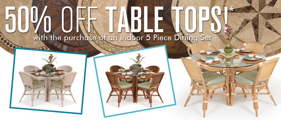 SAVE 50% on Table Tops