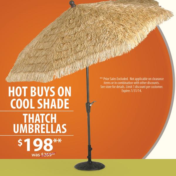 Thatch Umbrella Sale!