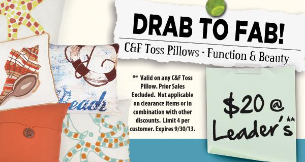 Designer Toss Pillows