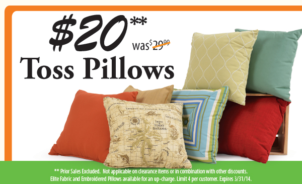 Toss Pillows on Sale!