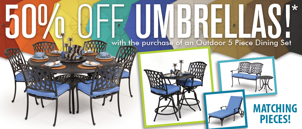 SAVE 50% on Umbrellas