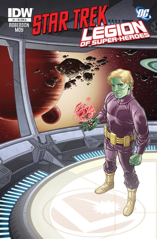 Star Trek/Legion of Super-Heroes #1 cover RIA