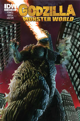 [GODZILLA: MONSTER WORLD #1 cover]