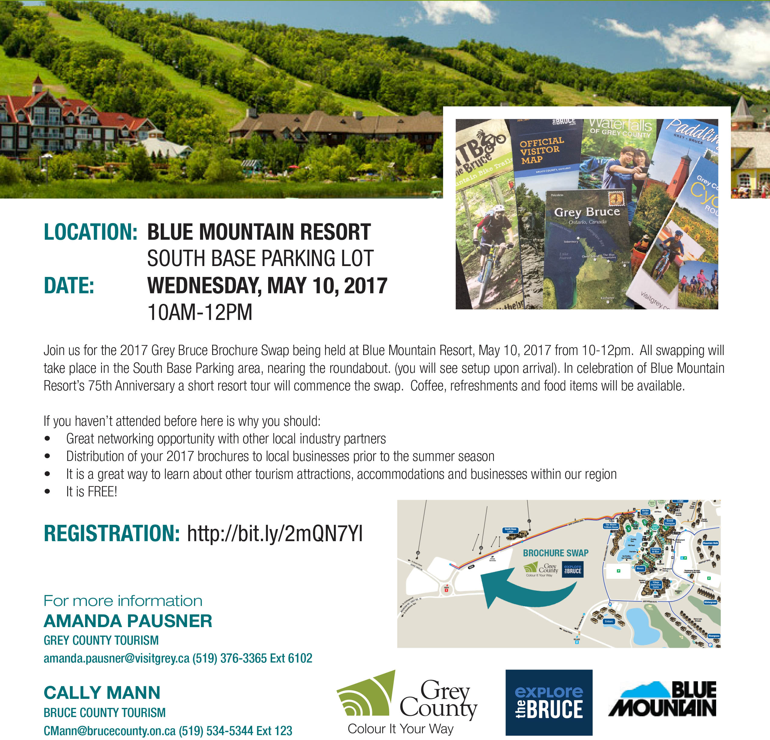 Grey County Brochure Swap at Blue Mountain Resort on May 10th