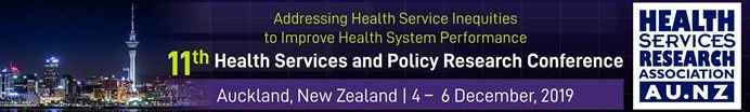 Health Services Research Association conference logo