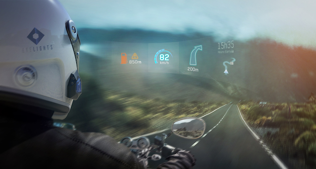 AR In Motorcyclists' Inner Helmet Surface