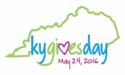 picture of KY outlined in green, wording: kygivesday May 24, 2016