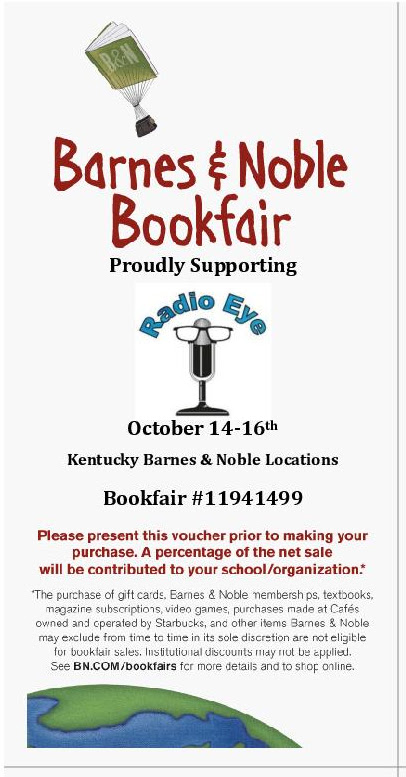 Barnes and Noble bookfair flyer