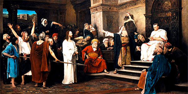 Christ before Pilate, Mihály Munkácsy, 1881