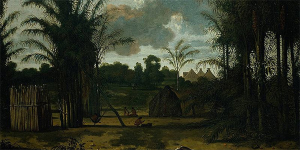 A plantation in Suriname by Dirk Valkenburg
