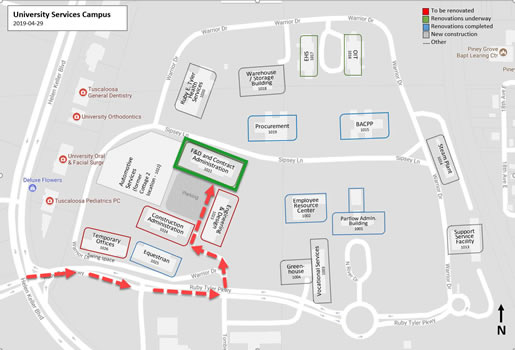 University Services Campus Map