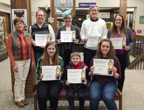 Writing contest winners at Watertown Public Library