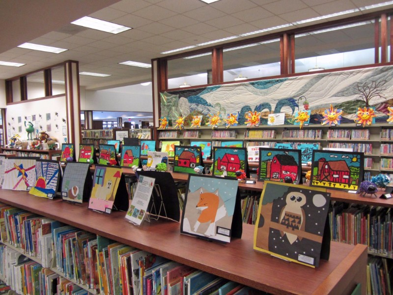 Youth art on display at Pauline Haass Public Library