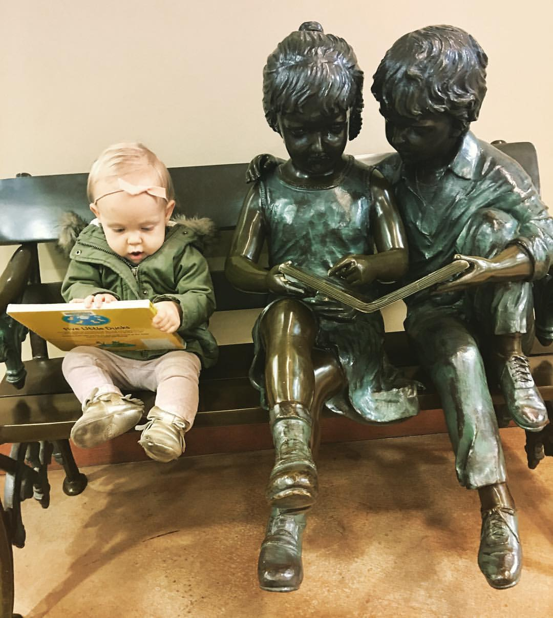 A young reader at Pewaukee Public Library