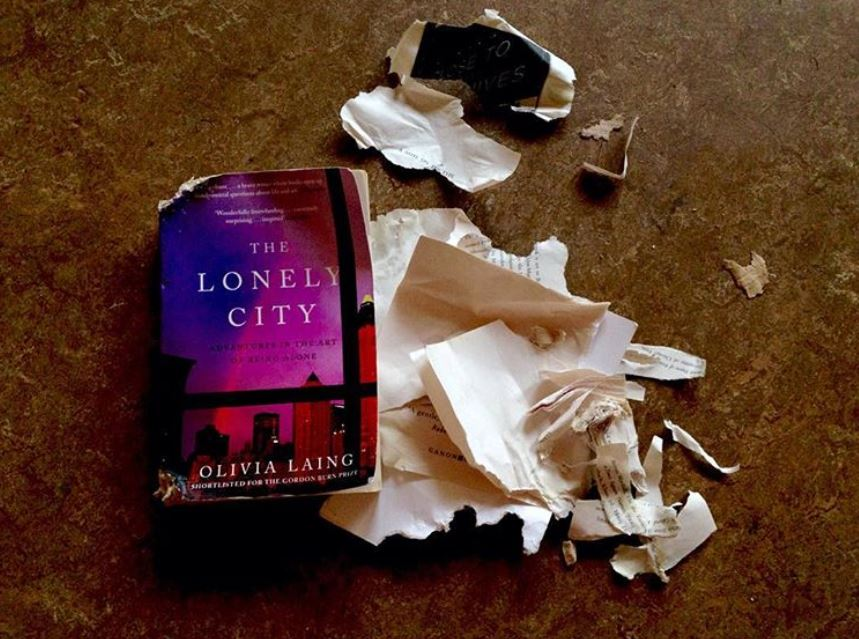 Photo of book all torn up