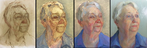 A painting sequence