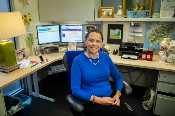 Eileen Lake in her office.