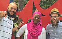 Chaz Howard, Kameelah Mu'Min Rashad and Josh Bolton