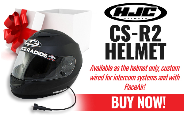 HJC CS-R2, available as helmet only or custom wired and with RaceAir!