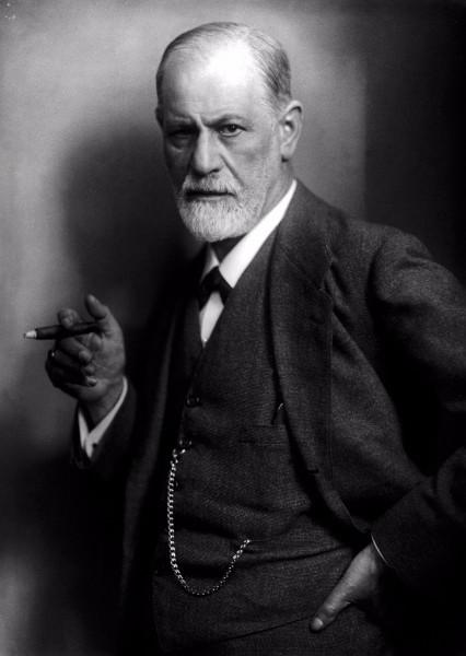 Sigmund Freud mit Zigarre