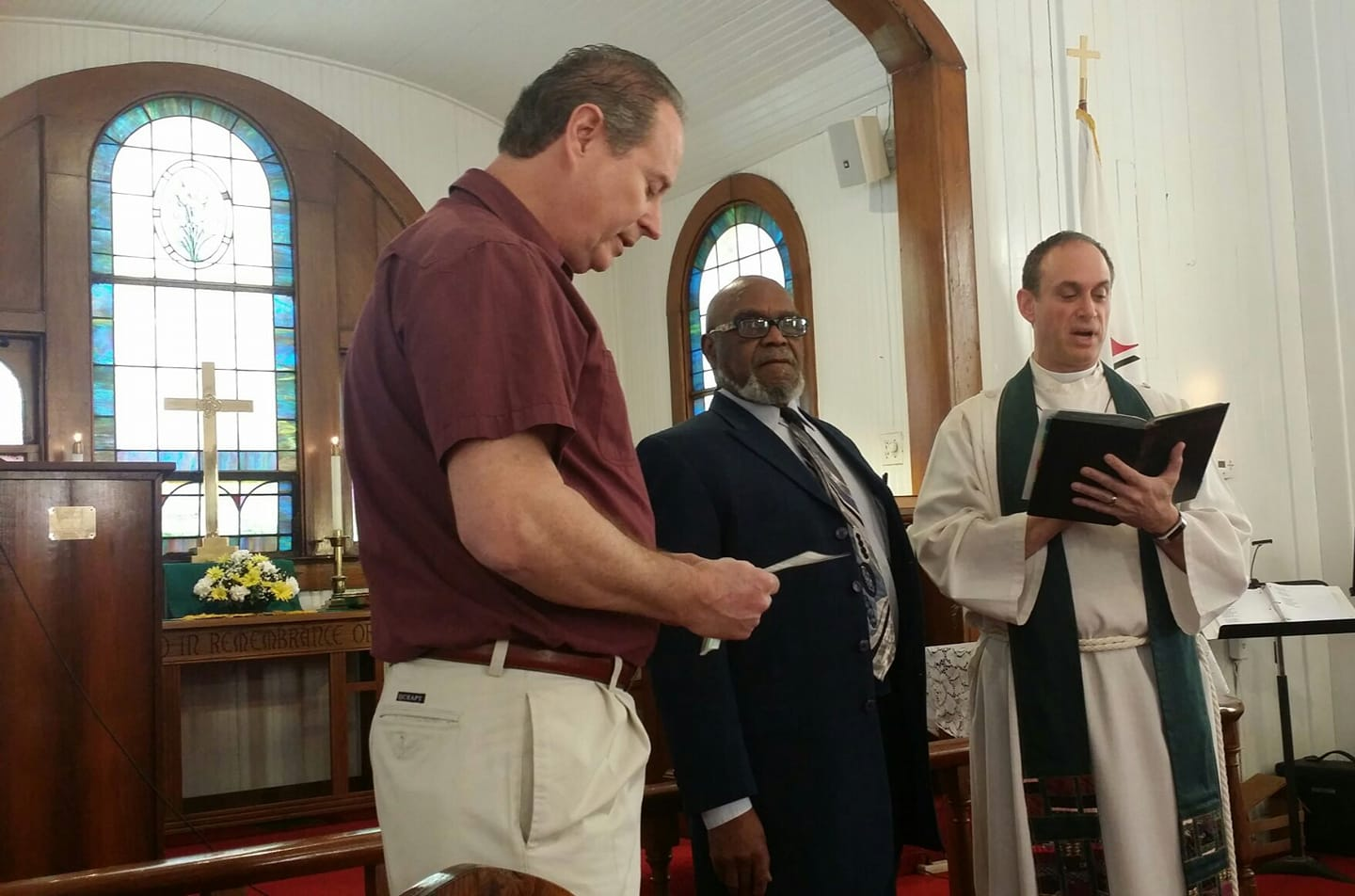 Russell Alpheaus takes the membership vows