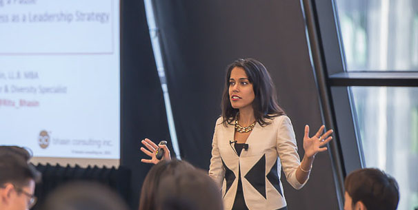Ritu Bhasin speaks at the FACL Fall Conference