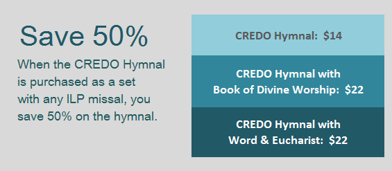 Save 50% off the cost of any ILP hymnal when you buy the Book of Divine Worship