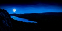 """Image """"Moonrise at Lake of the Clouds"""" by Michael Knapstein"""