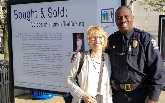 With Racine Chief of Police, Art Howell