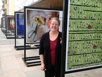 Jean M. Geran outside Chazen Museum of Art, UW-Madison