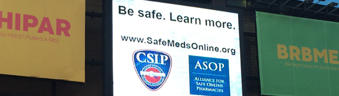 CSIP / ASOP ad in Times Square